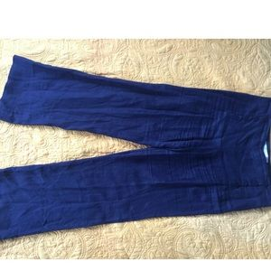 Max Studio Linen pants Sz 6 Blue
